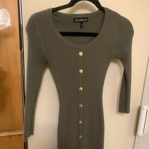 Derek heart olive size small ribbed dress